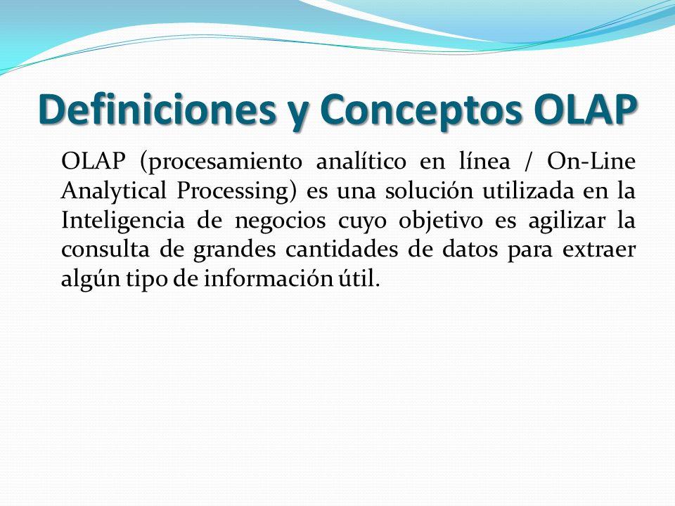 Definiciones y Conceptos OLAP