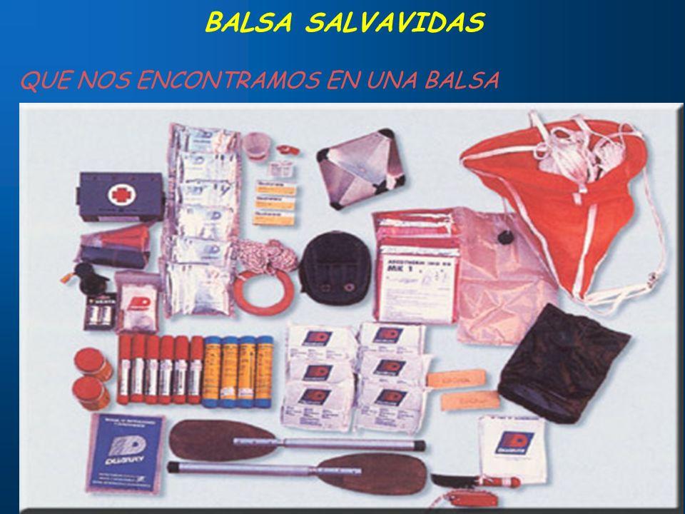 BALSA SALVAVIDAS QUE NOS ENCONTRAMOS EN UNA BALSA