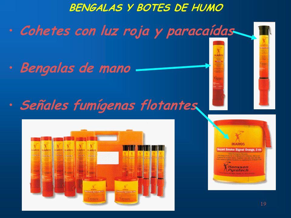 BENGALAS Y BOTES DE HUMO