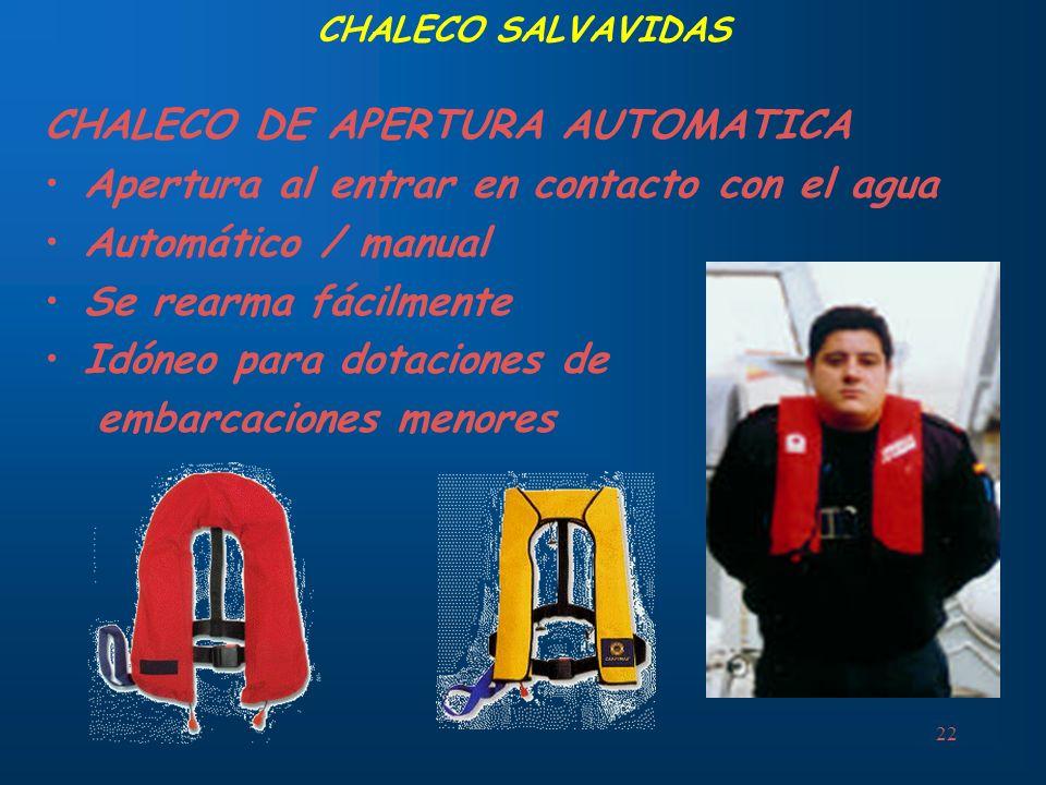 CHALECO DE APERTURA AUTOMATICA