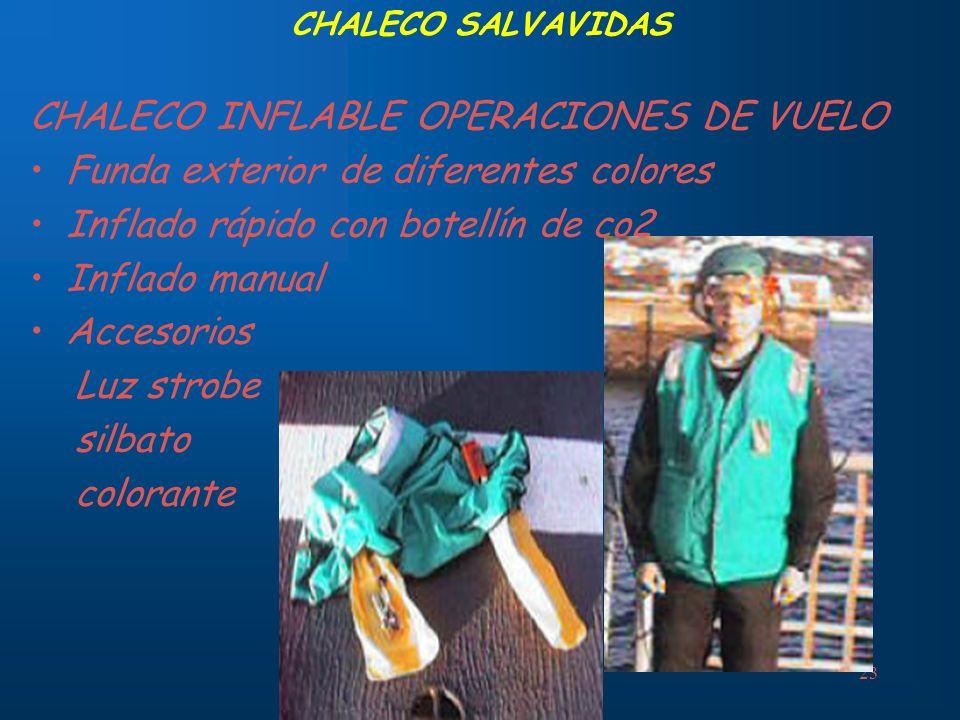 CHALECO INFLABLE OPERACIONES DE VUELO