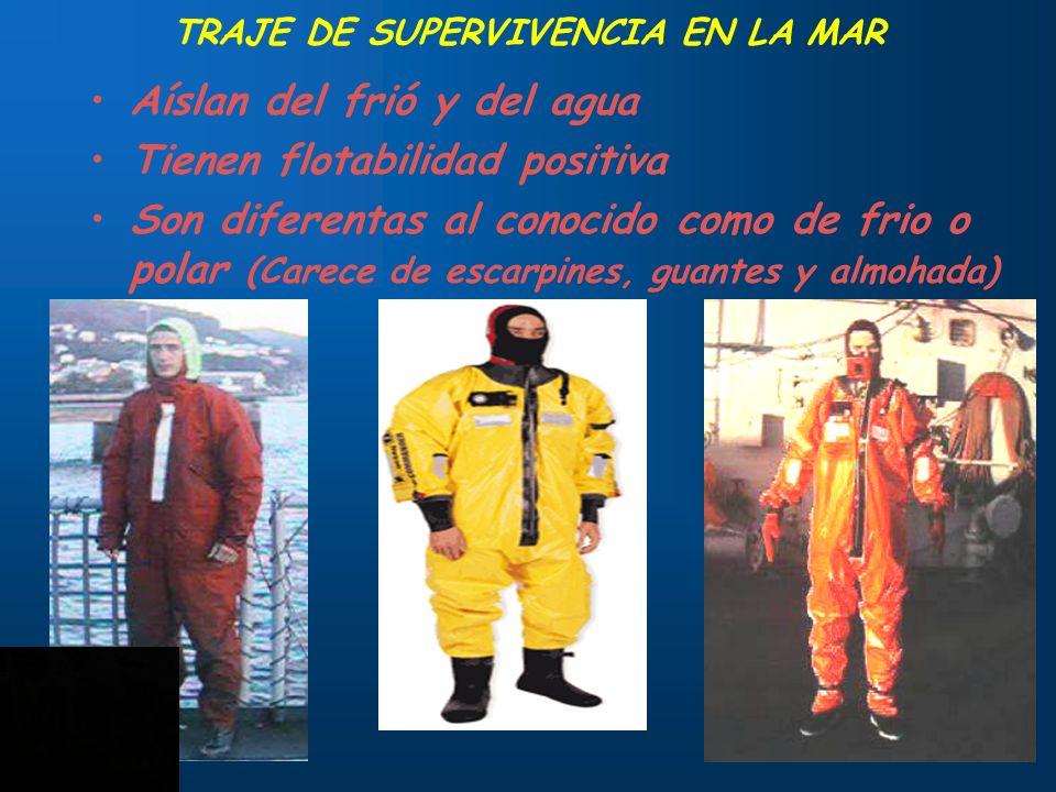 TRAJE DE SUPERVIVENCIA EN LA MAR