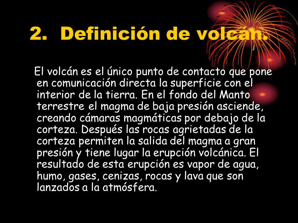 2. Definición de volcán.