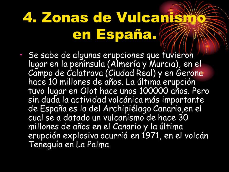 4. Zonas de Vulcanismo en España.