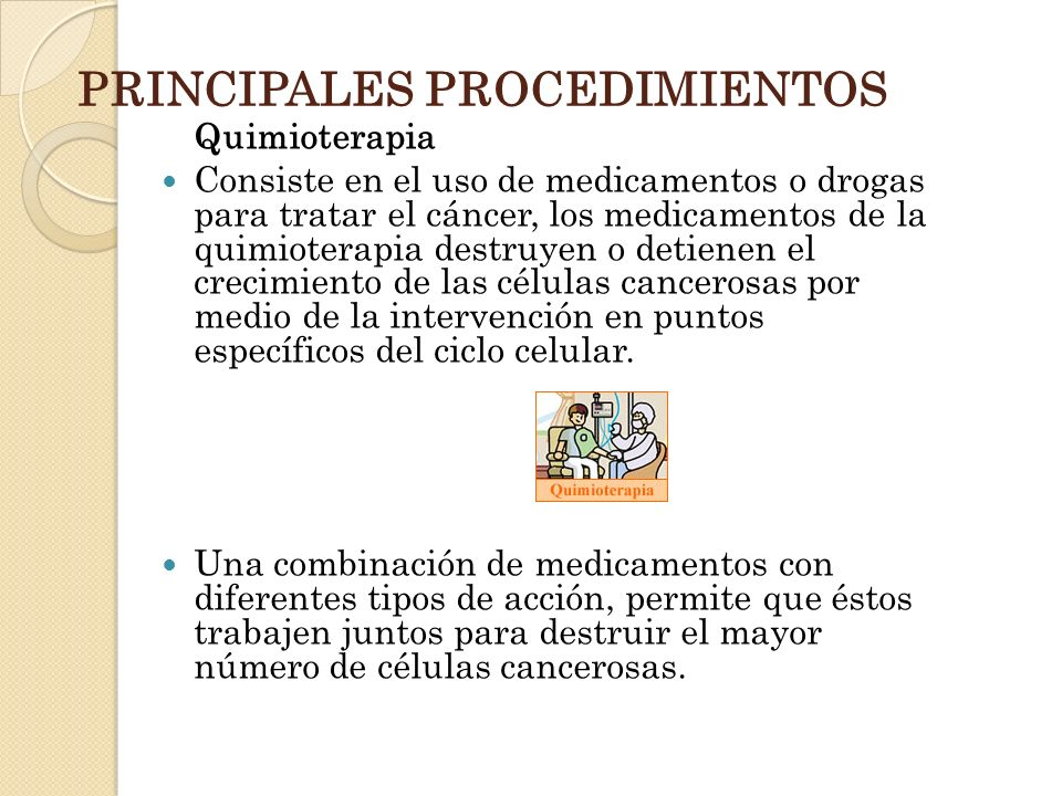 PRINCIPALES PROCEDIMIENTOS