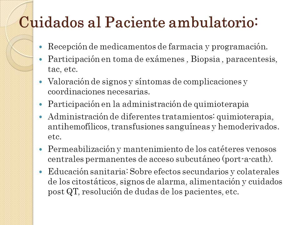 Cuidados al Paciente ambulatorio: