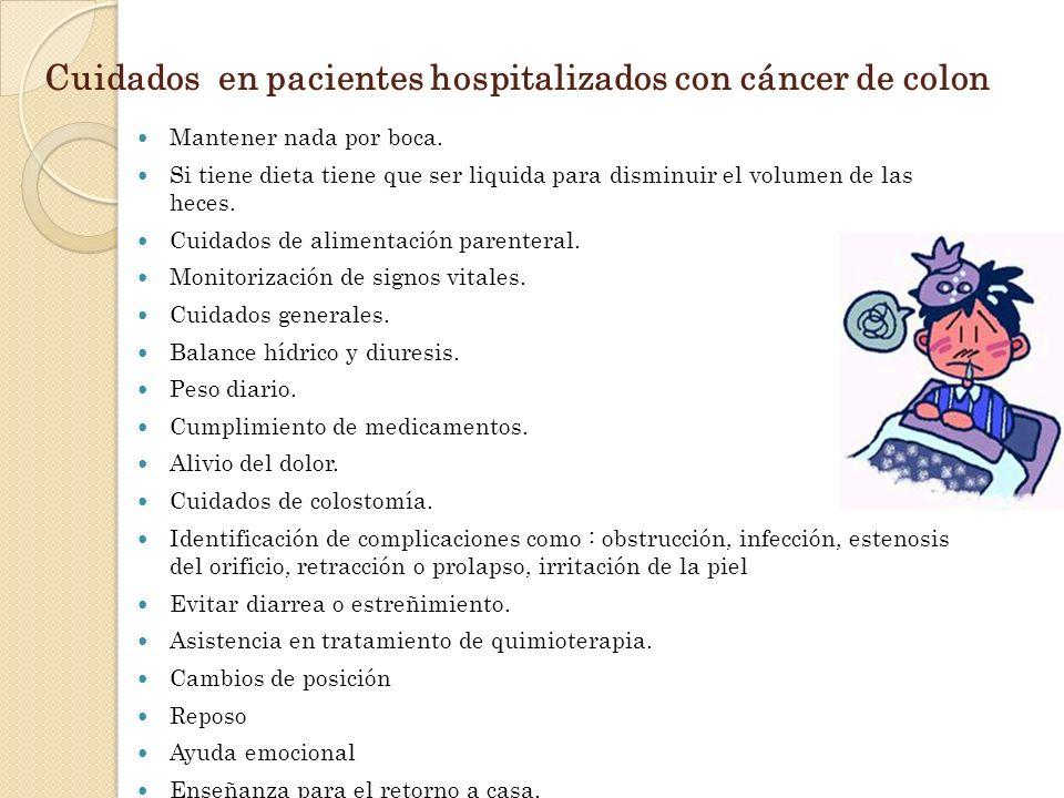 Cuidados en pacientes hospitalizados con cáncer de colon