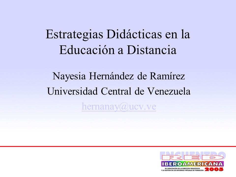 Estrategias Didácticas en la Educación a Distancia