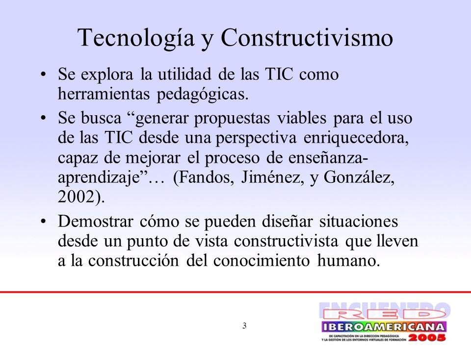 Tecnología y Constructivismo