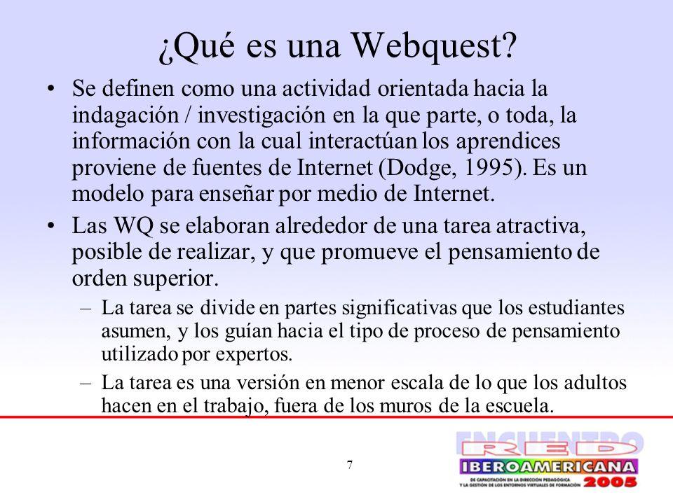 ¿Qué es una Webquest