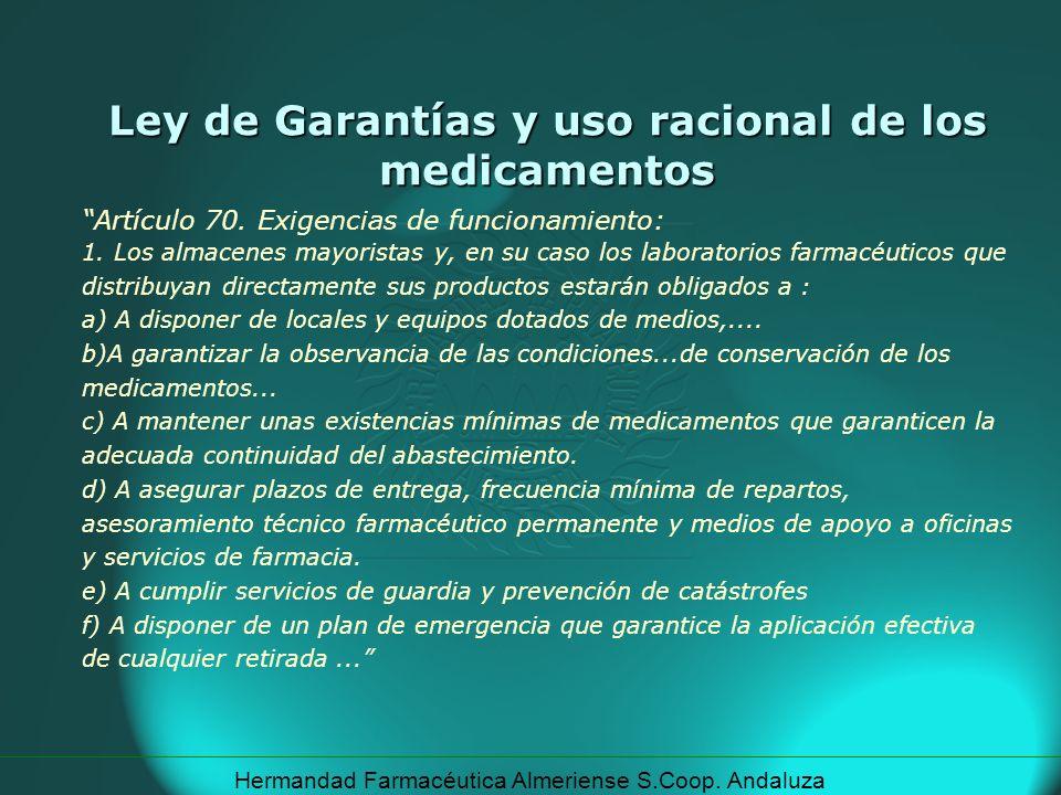 Ley de Garantías y uso racional de los medicamentos