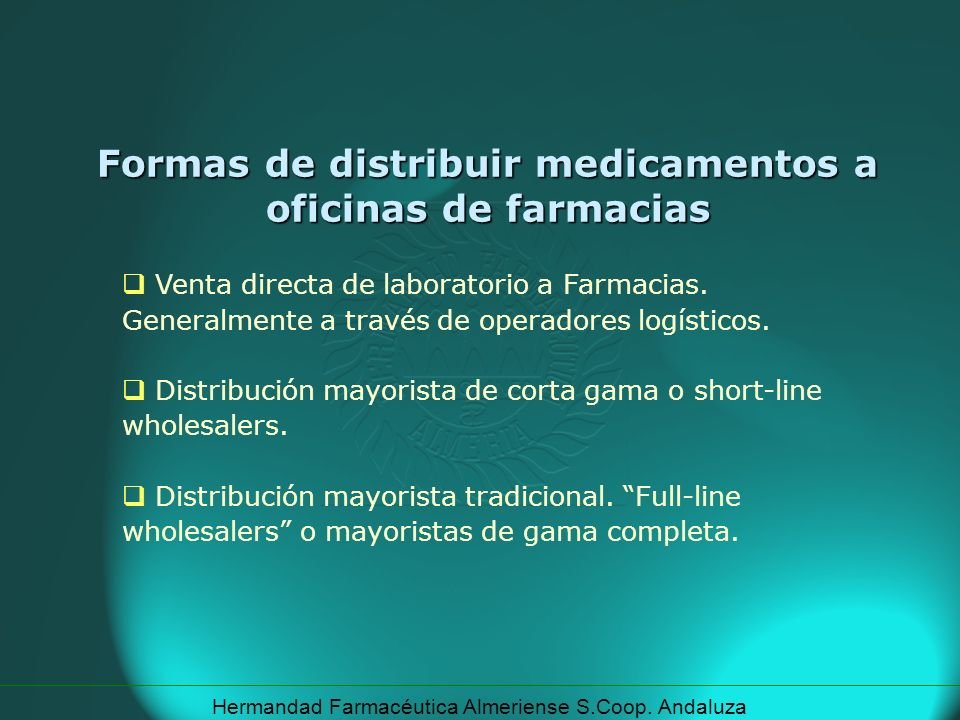 Formas de distribuir medicamentos a oficinas de farmacias