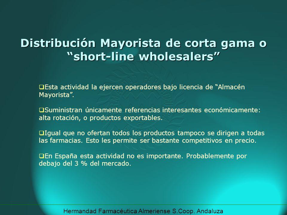 Distribución Mayorista de corta gama o short-line wholesalers