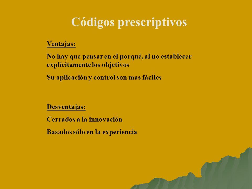 Códigos prescriptivos