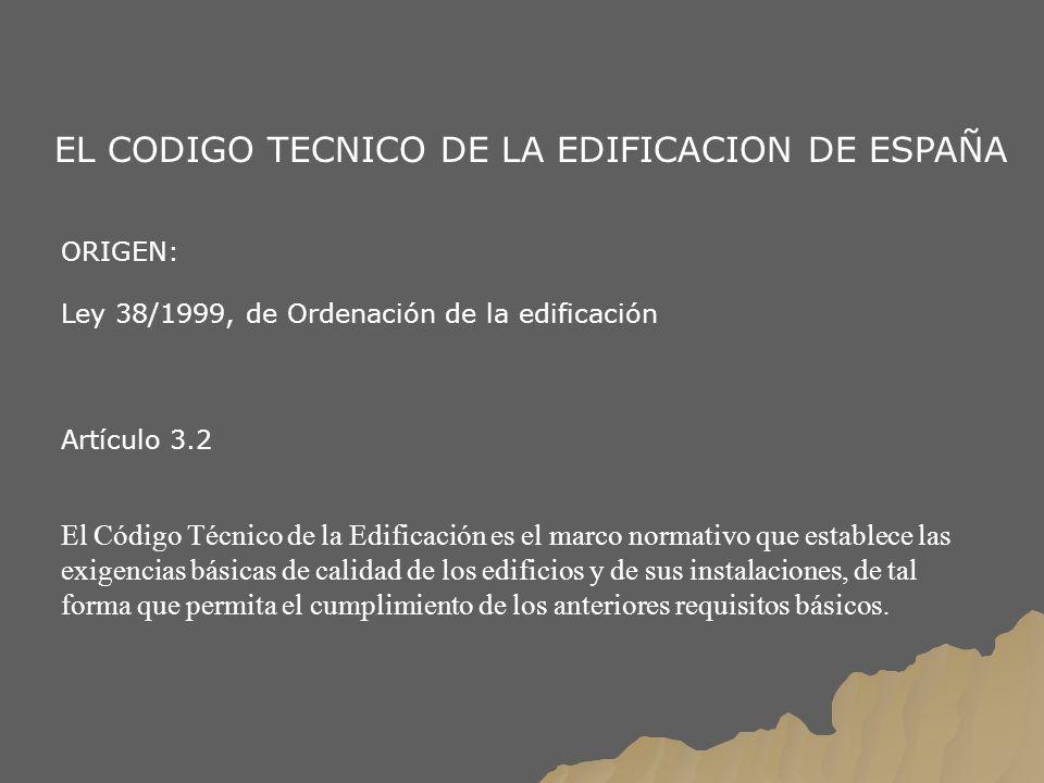 EL CODIGO TECNICO DE LA EDIFICACION DE ESPAÑA