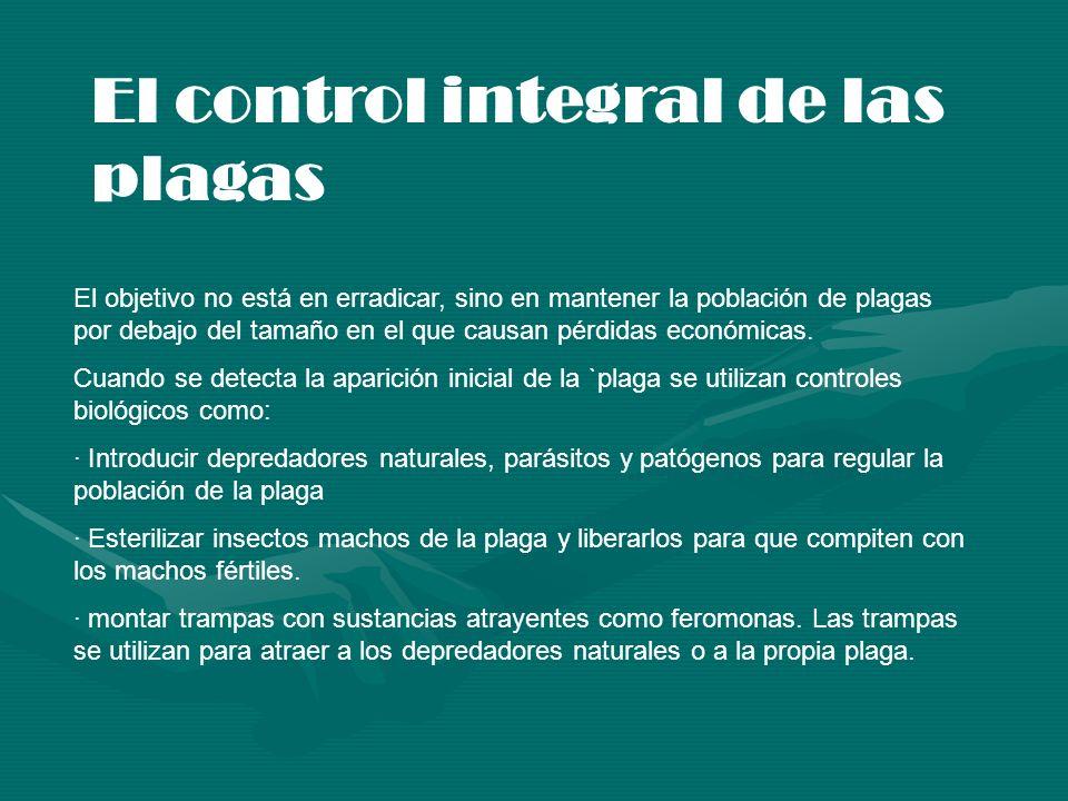 El control integral de las plagas