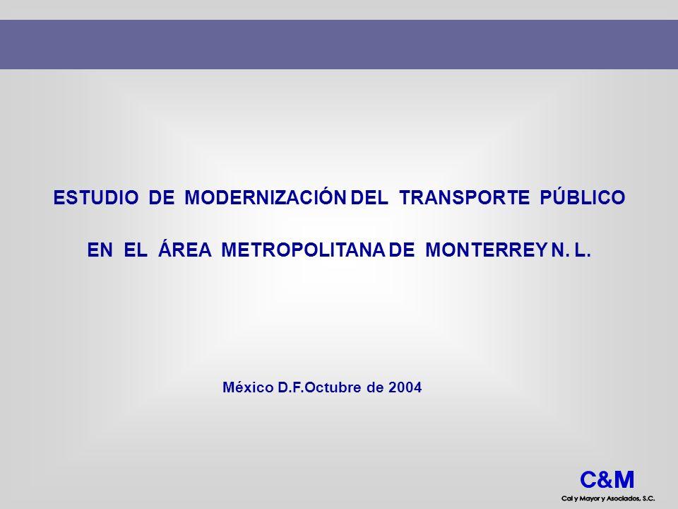 ESTUDIO DE MODERNIZACIÓN DEL TRANSPORTE PÚBLICO