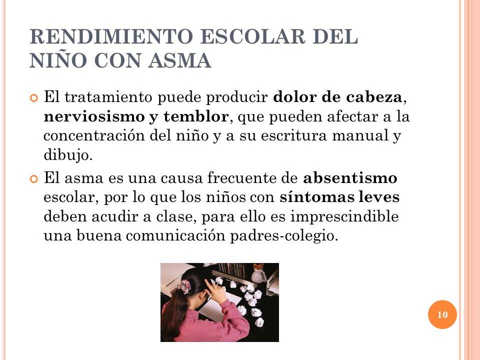 RENDIMIENTO ESCOLAR DEL NIÑO CON ASMA