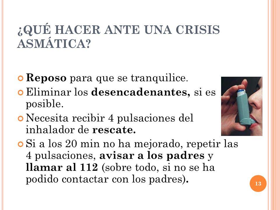 ¿QUÉ HACER ANTE UNA CRISIS ASMÁTICA