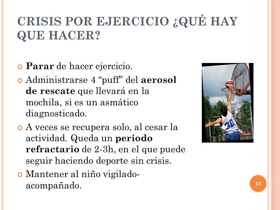 CRISIS POR EJERCICIO ¿QUÉ HAY QUE HACER