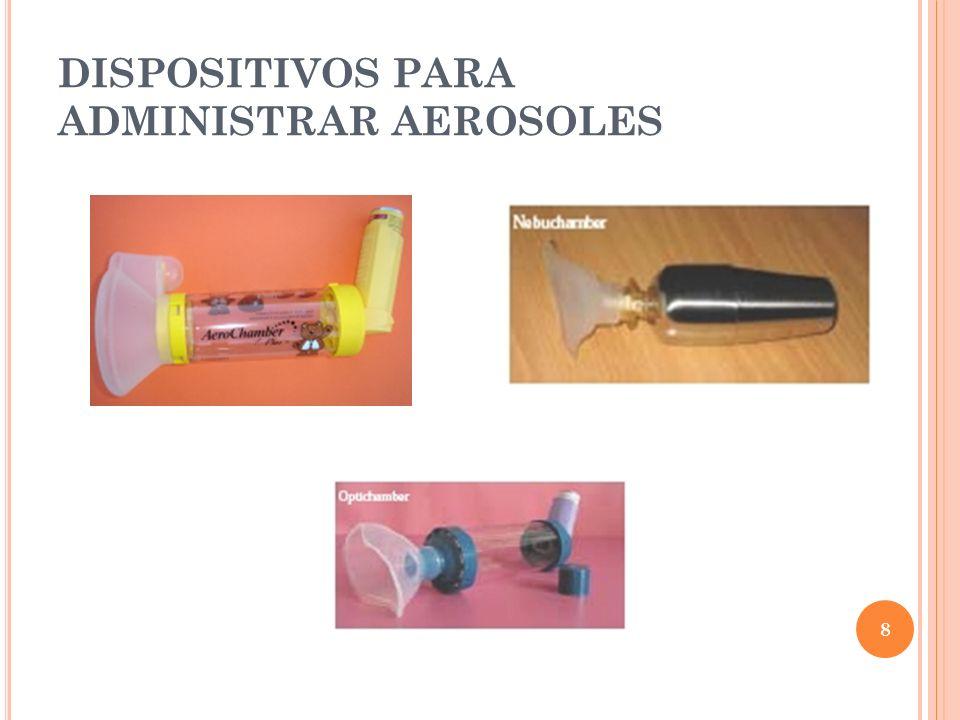 DISPOSITIVOS PARA ADMINISTRAR AEROSOLES