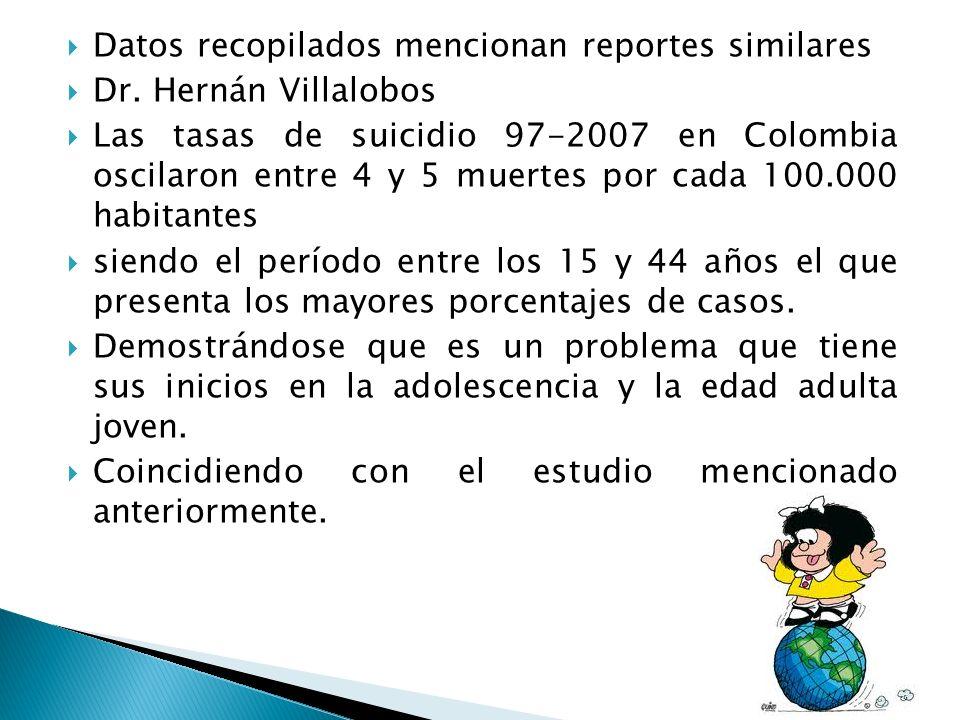 Datos recopilados mencionan reportes similares