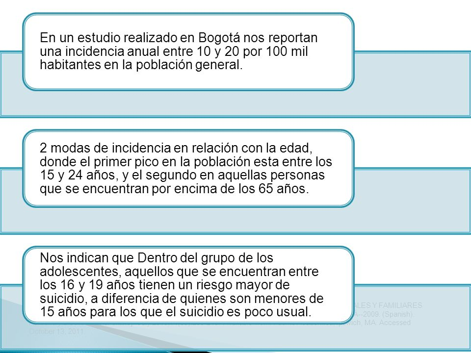 En un estudio realizado en Bogotá nos reportan una incidencia anual entre 10 y 20 por 100 mil habitantes en la población general.