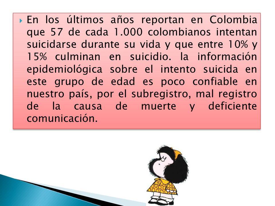 En los últimos años reportan en Colombia que 57 de cada 1