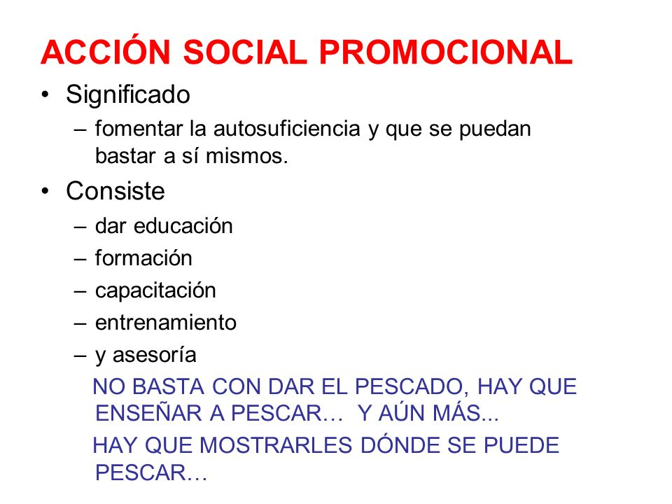 ACCIÓN SOCIAL PROMOCIONAL