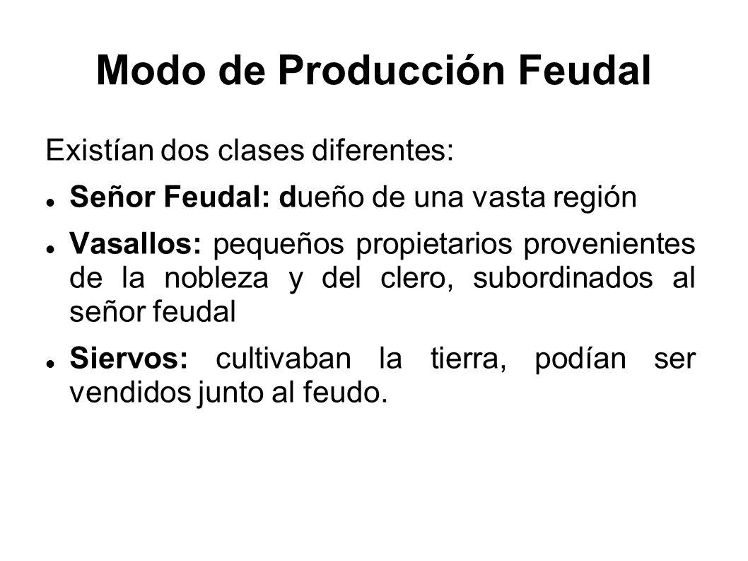 Modo de Producción Feudal