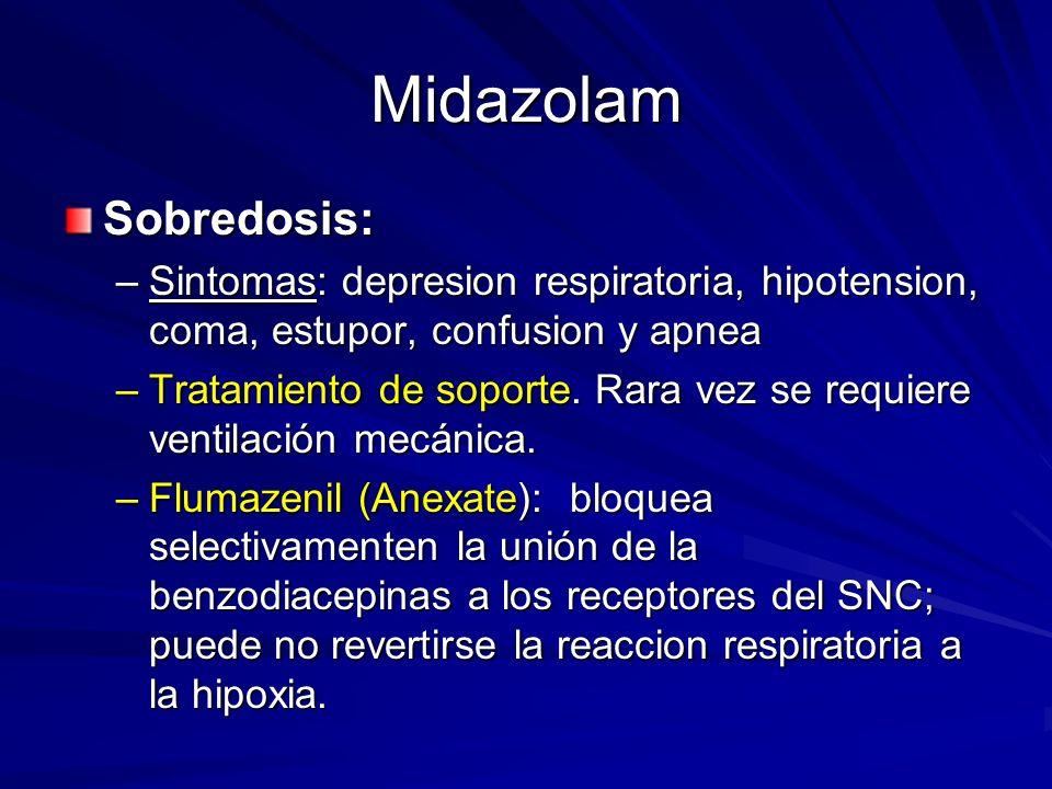 Midazolam Sobredosis: