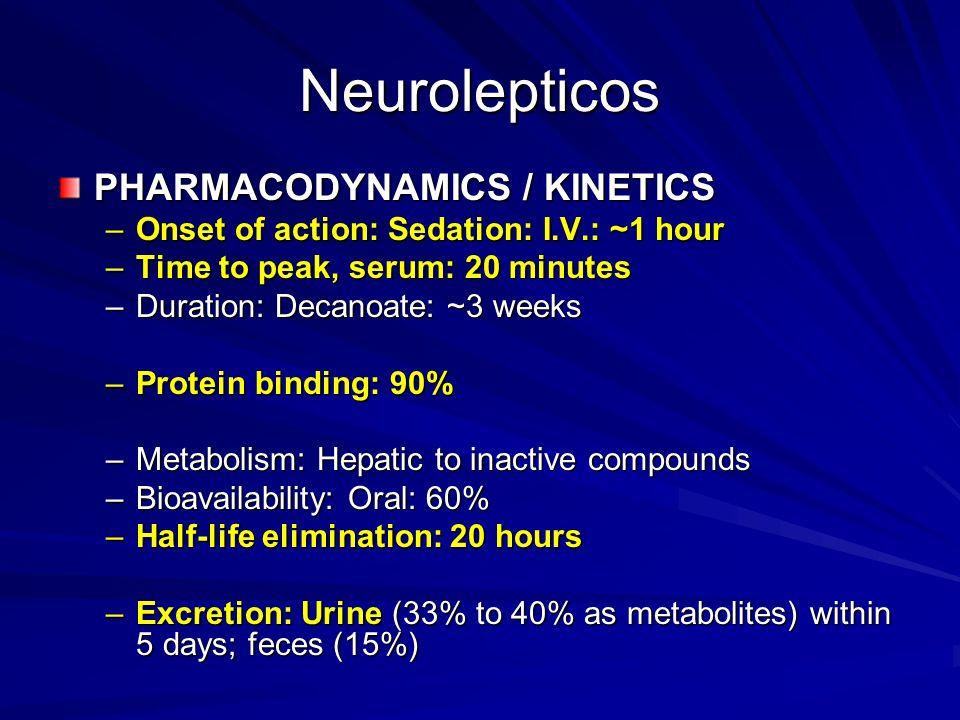 Neurolepticos PHARMACODYNAMICS / KINETICS