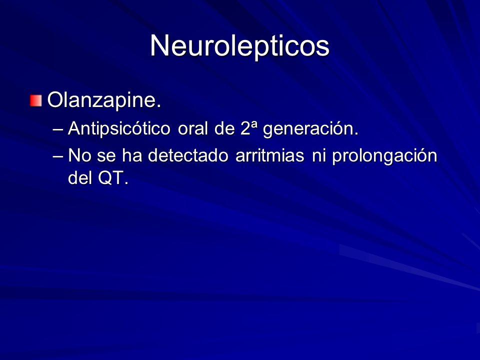 Neurolepticos Olanzapine. Antipsicótico oral de 2ª generación.