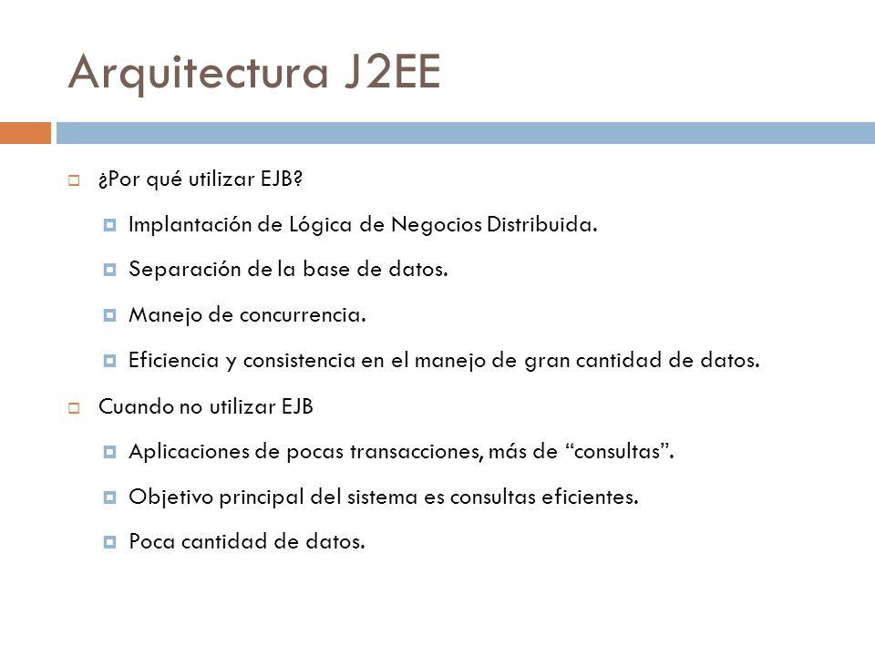 Arquitectura J2EE ¿Por qué utilizar EJB