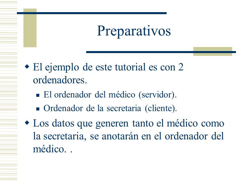 Preparativos El ejemplo de este tutorial es con 2 ordenadores.
