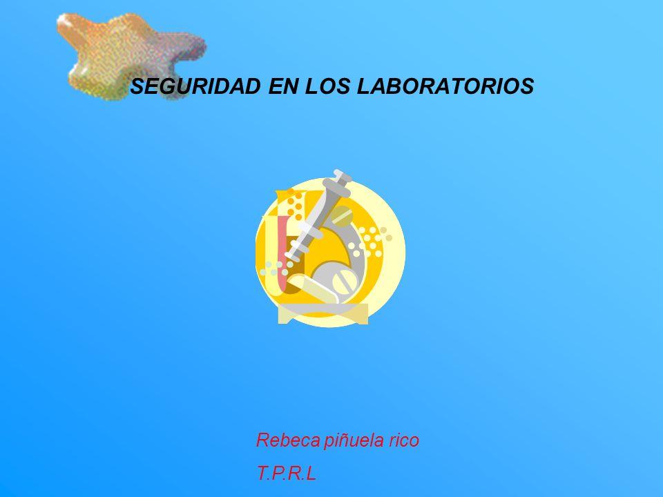 SEGURIDAD EN LOS LABORATORIOS