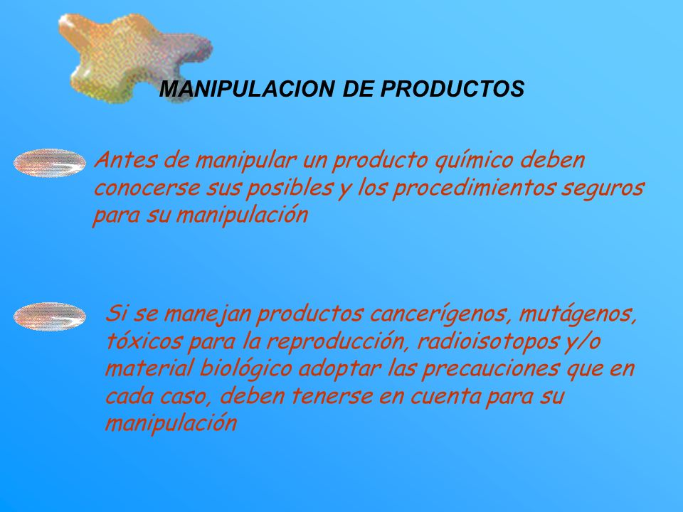 MANIPULACION DE PRODUCTOS