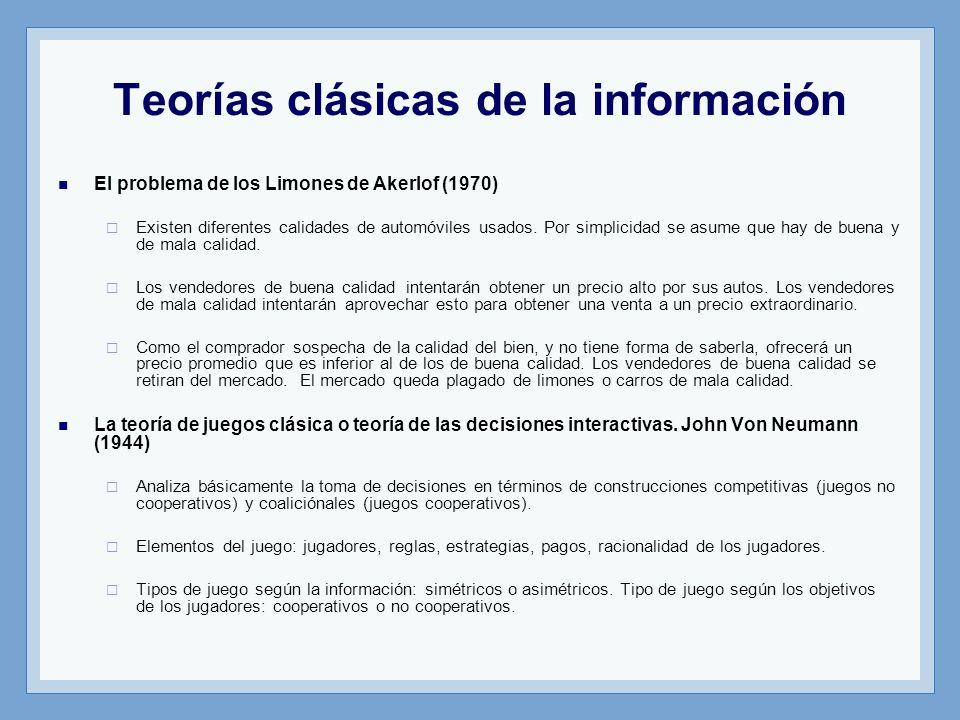 Teorías clásicas de la información