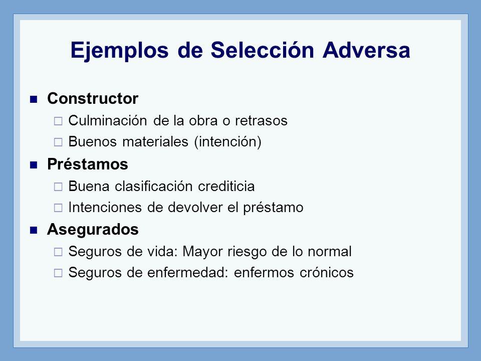 Ejemplos de Selección Adversa