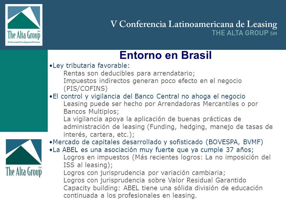 Entorno en Brasil Ley tributaria favorable: