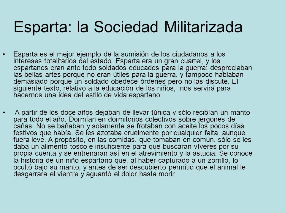 Esparta: la Sociedad Militarizada