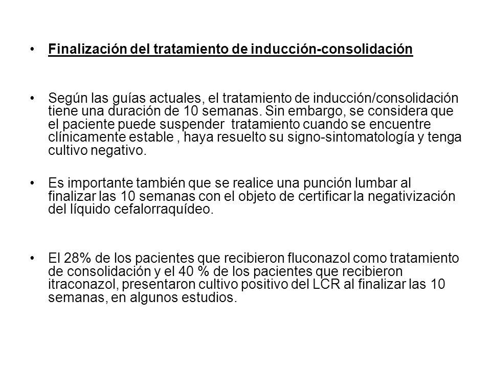 Finalización del tratamiento de inducción-consolidación