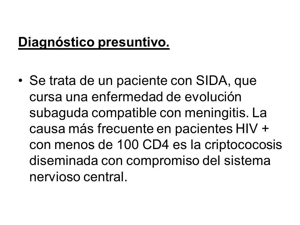 Diagnóstico presuntivo.