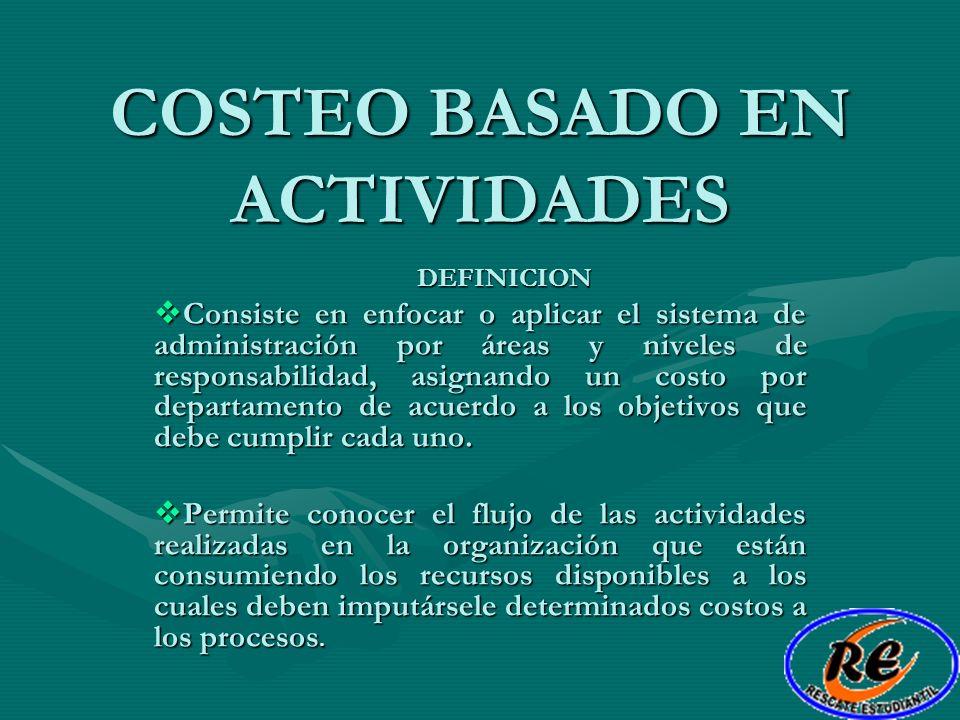COSTEO BASADO EN ACTIVIDADES
