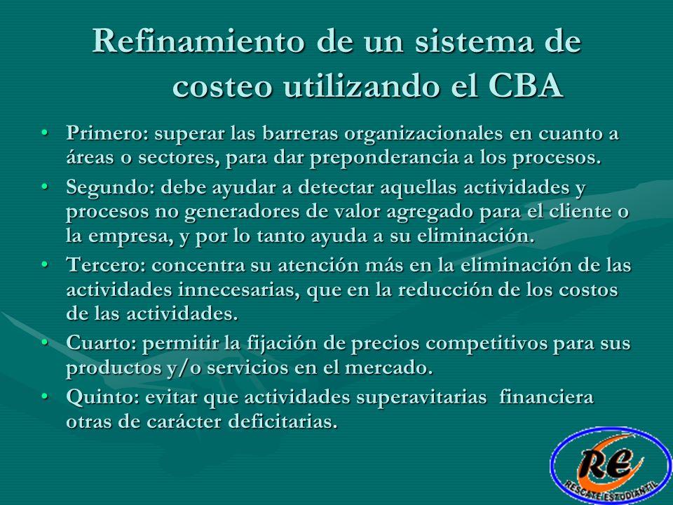 Refinamiento de un sistema de costeo utilizando el CBA