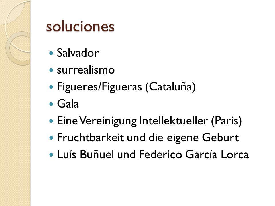 soluciones Salvador surrealismo Figueres/Figueras (Cataluña) Gala