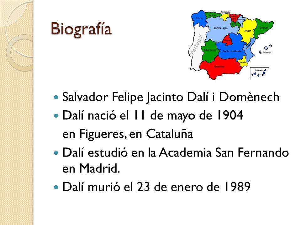 Biografía Salvador Felipe Jacinto Dalí i Domènech