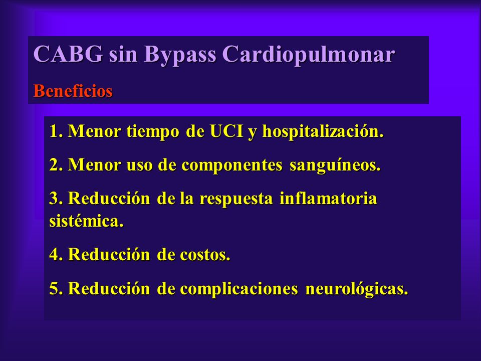 CABG sin Bypass Cardiopulmonar