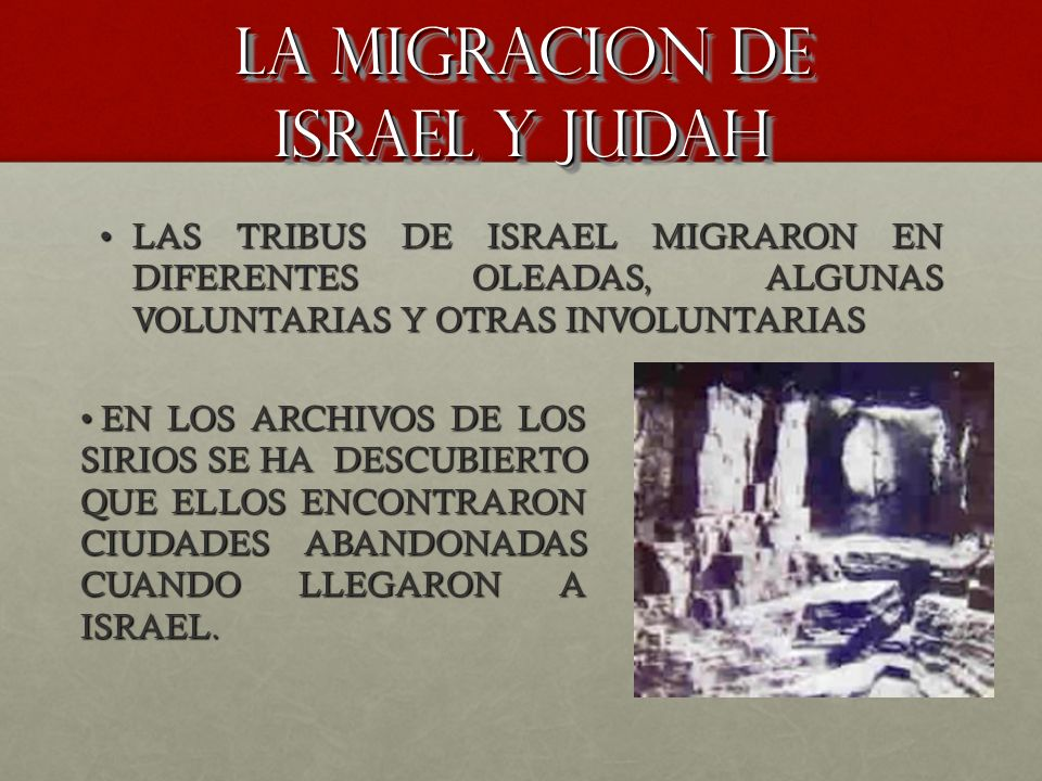 La migracion de israel y judah