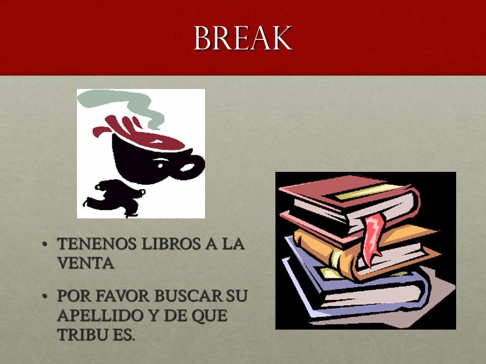 BREAK TENENOS LIBROS A LA VENTA